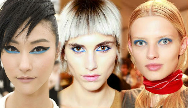 Снова в моде — дерзкий, яркий, темно-синий акцент на глазах