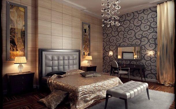 Спальня в стиле ар-деко: очарование прошлого и современность