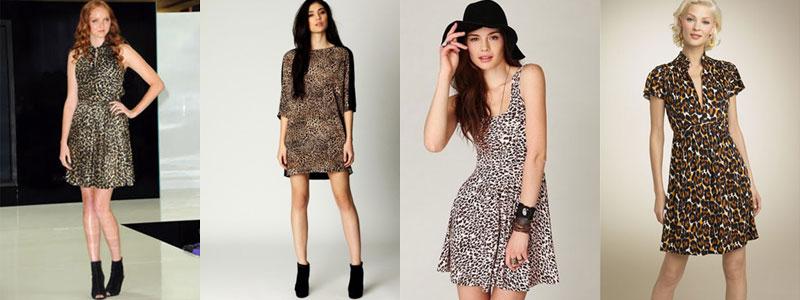 Леопардовая расцветка платья – с чем ее сочетать