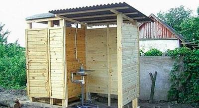 Недорогой летний душ своими руками