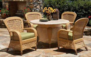В чем плюсы плетеной мебели из ротанга?
