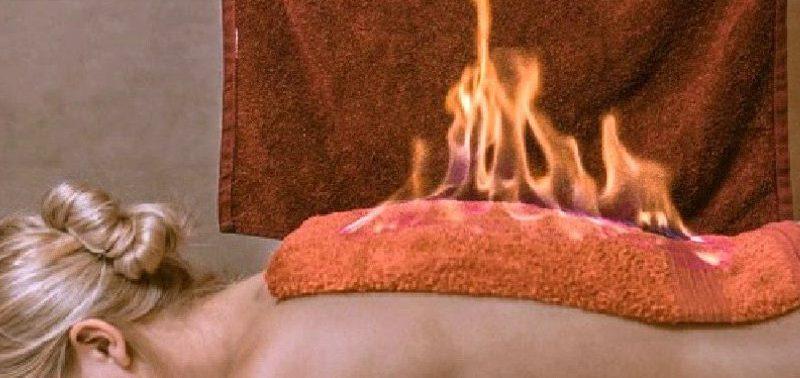 «Огненное полотенце» облегчает боль в мышцах
