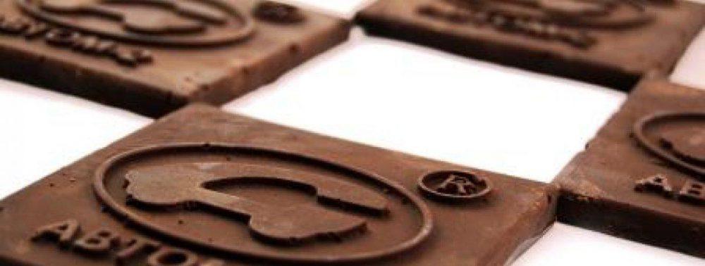 Логотип на шоколаде